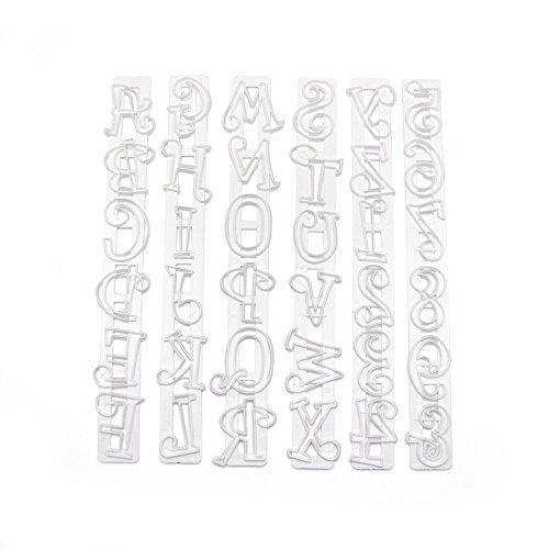 6 PC Set 1.5 Inch Alphabet Font Pop Out Tappit Cutouts Sugarcraft Cutters-Decorating Tools-Bakell- | Bakell.com