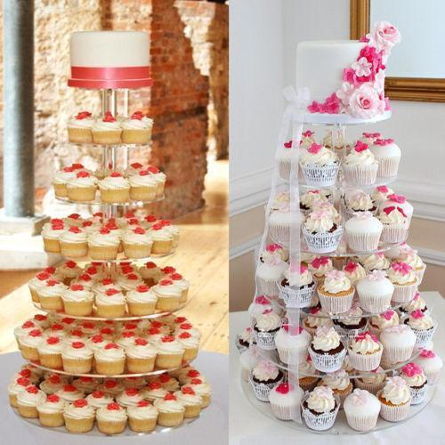 7 Tier Acrylic Round Cake Cupcake Stand Tower-Stands & Packaging-Bakell- | Bakell.com