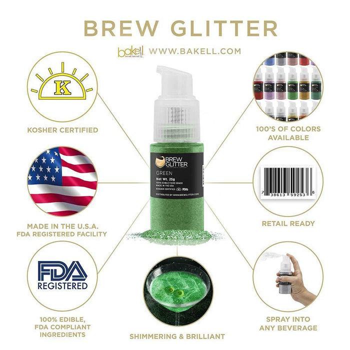 St. Patty's Day Pot O' Gold Collection Brew Glitter Pump Combo Pack B (4 PC SET)-Brew Glitter Pump_Pack-Bakell