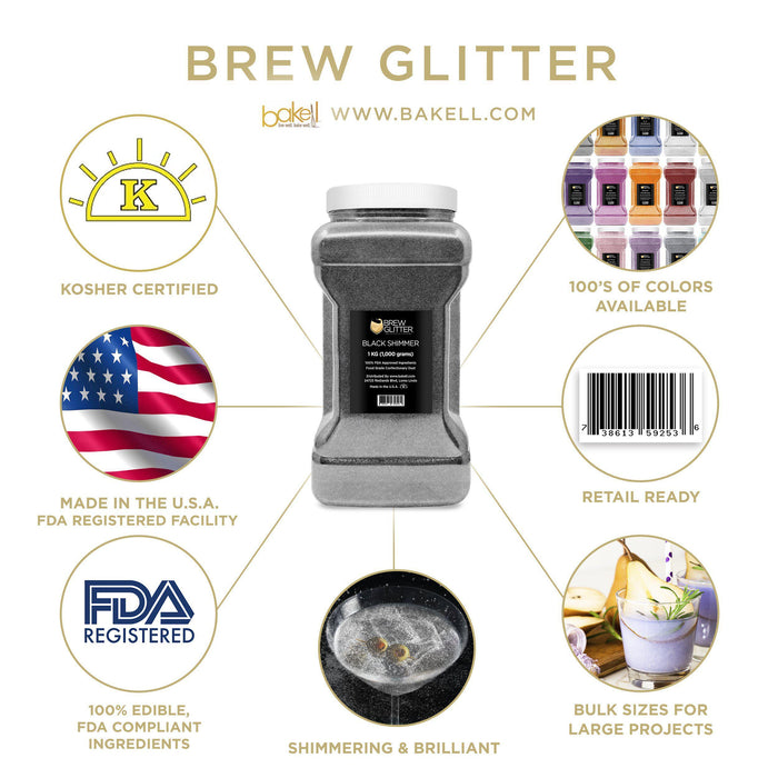 Black Shimmer Iced Tea & Juice Glitter-Iced Tea_Brew Glitter-Bakell