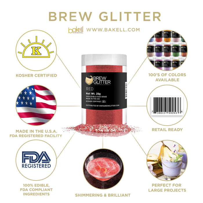 Red Cocktail Drink Glitter-Cocktail Glitter-Bakell