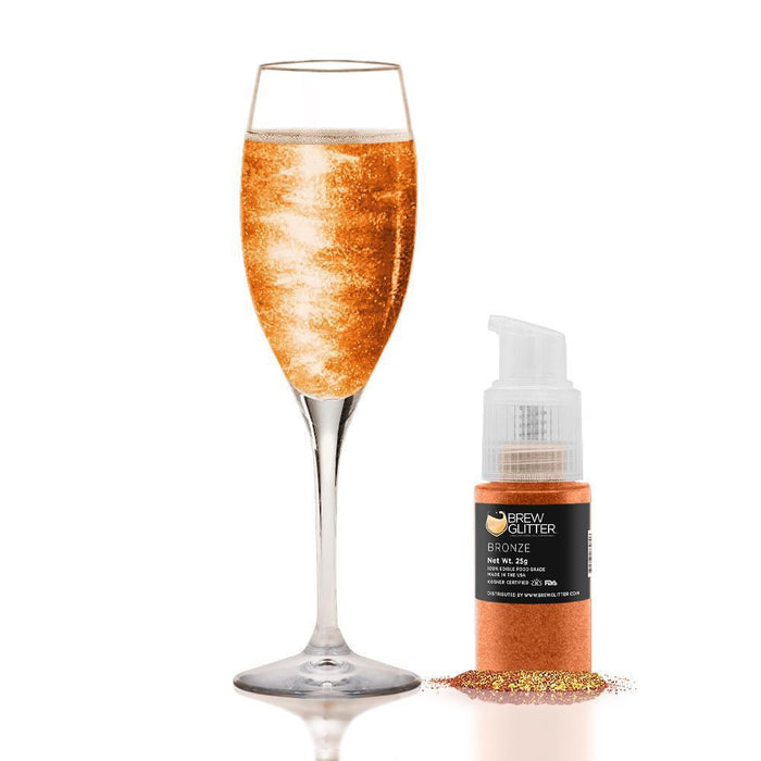 Bronze Edible Glitter Spray Pump for Drinks-Brew Glitter_25PUMP-Bakell