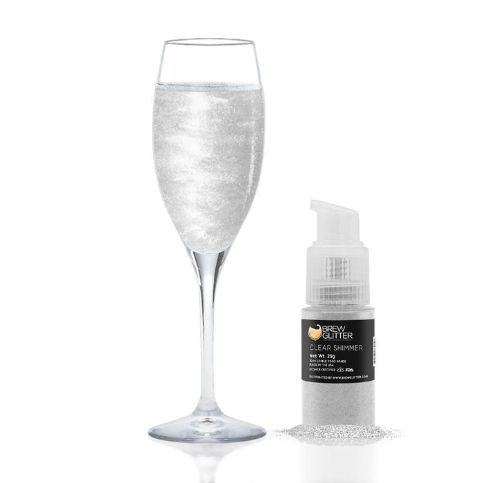 Clear Shimmer Edible Glitter Spray Pump for Drinks-Brew Glitter_25PUMP-Bakell