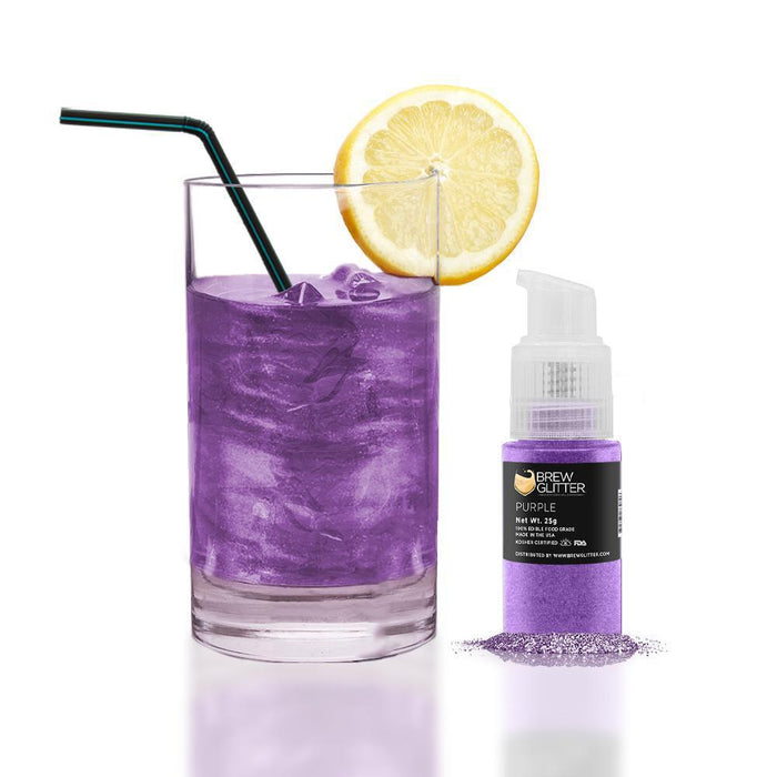 Purple Edible Glitter Spray Pump for Drinks-Brew Glitter_25PUMP-Bakell