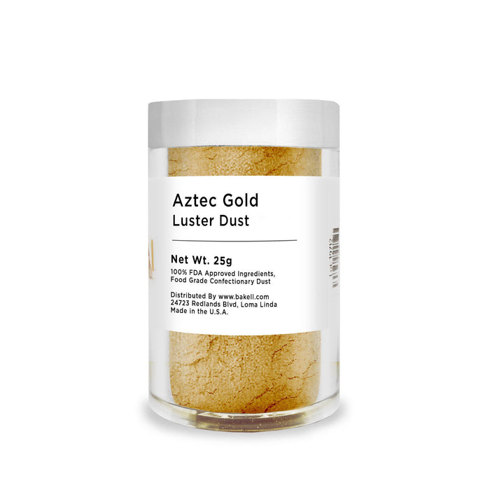 Aztec Gold Edible Luster Dust | FDA Approved | Bakell® #1 site for FDA Compliant edible glitter & edible dust | Bakell.com