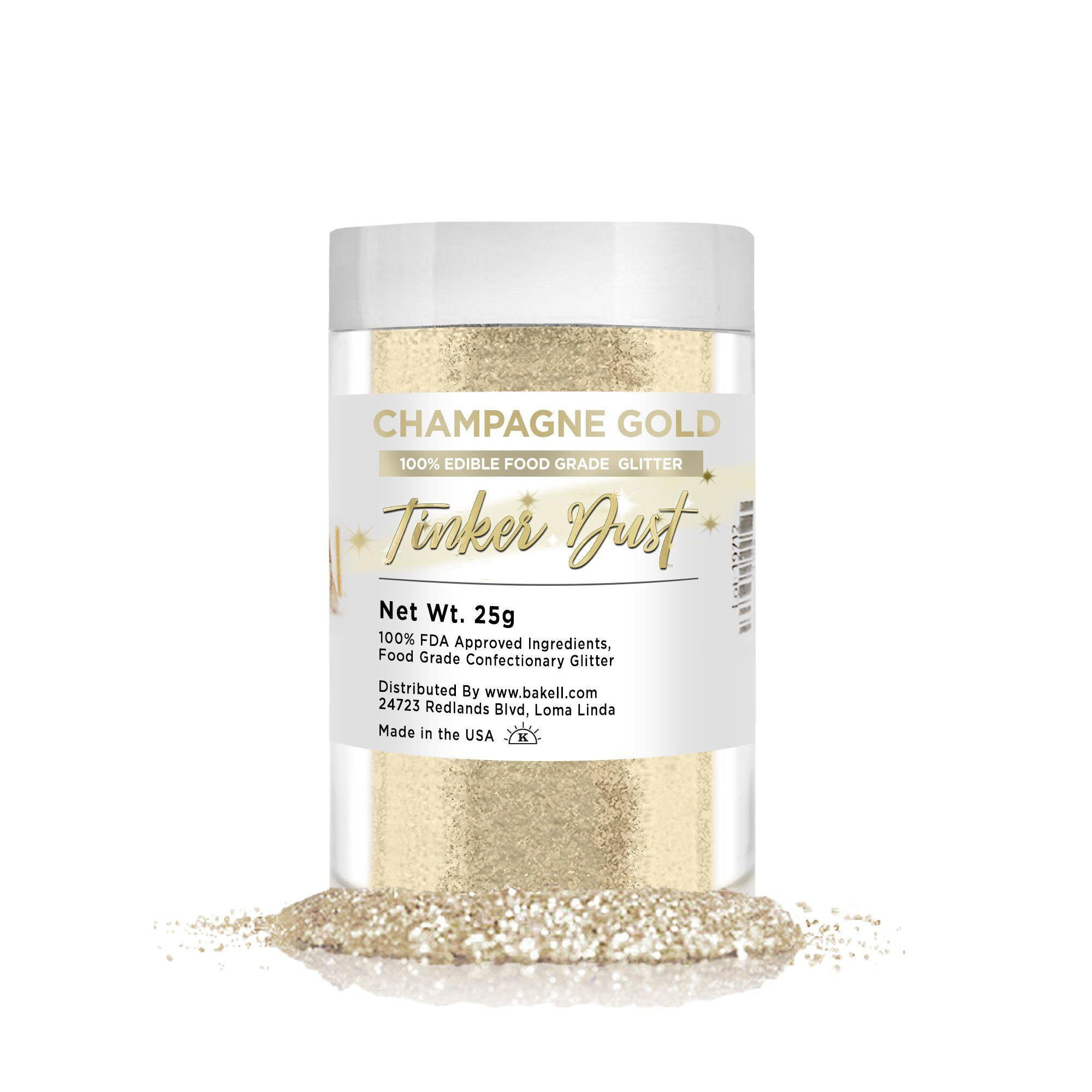 Champagne Gold Edible Tinker Dust | Bulk Sizes-Bulk_Tinker Dust-Bakell