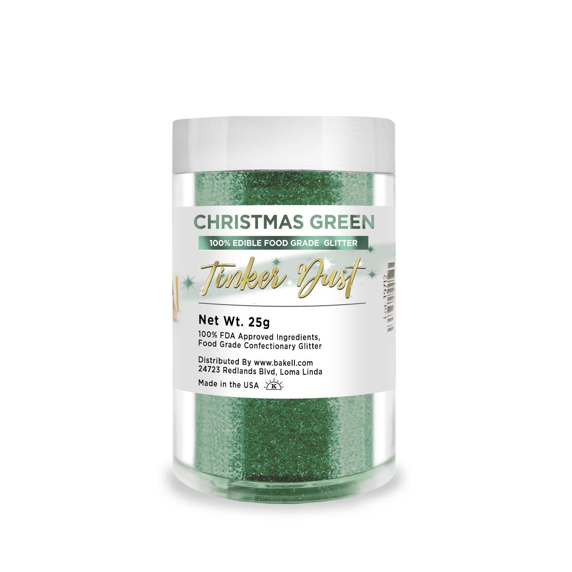 Christmas Green Edible Tinker Dust | Bulk Sizes-Bulk_Tinker Dust-Bakell