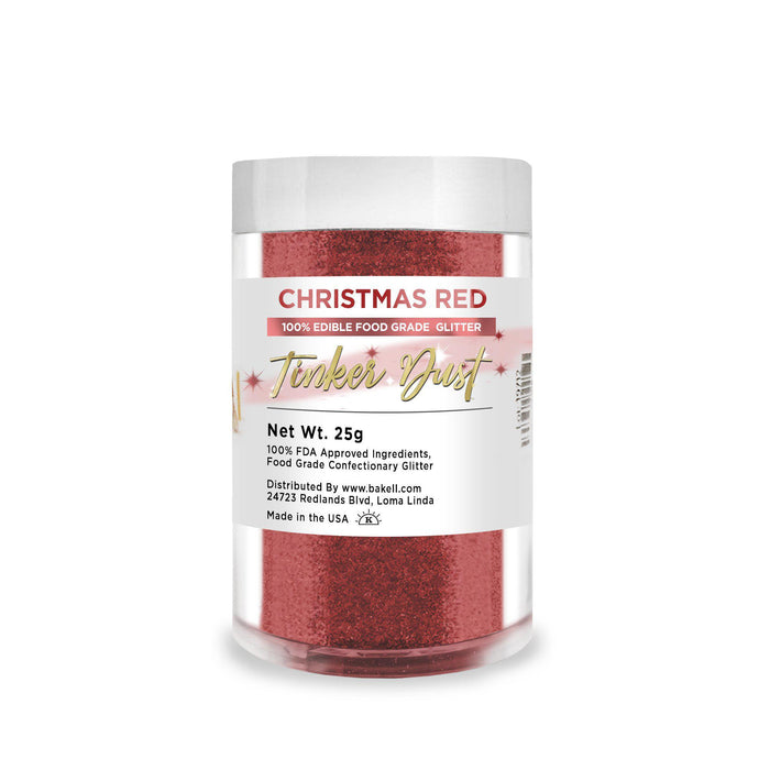 Christmas Red Edible Tinker Dust | Bulk Sizes-Bulk_Tinker Dust-Bakell