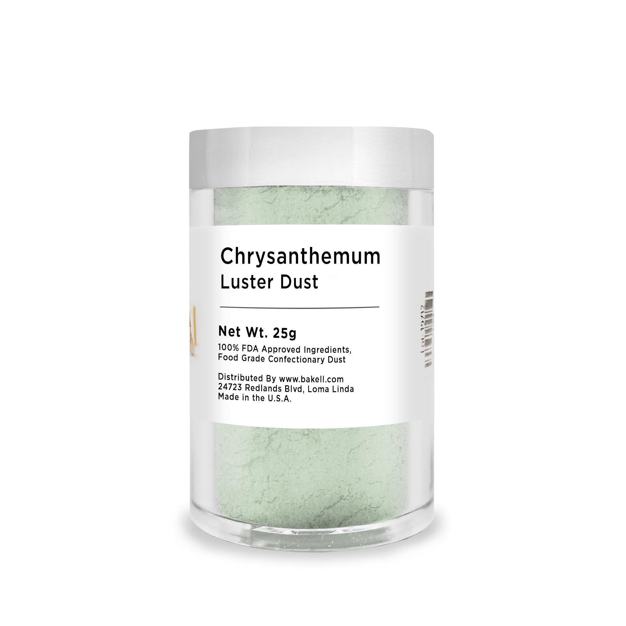Chrysanthemum Green Edible Luster Dust | FDA Approved | Bakell® #1 site for FDA Compliant edible glitter & edible dust | Bakell.com