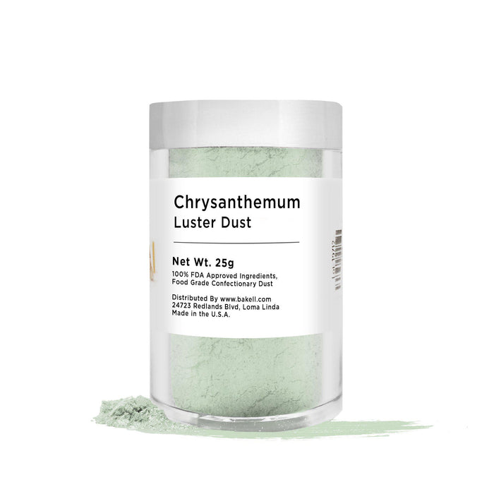 Chrysanthemum Green Edible Pearlized Luster Dust | Bulk Sizes-Bulk_Luster Dust-Bakell