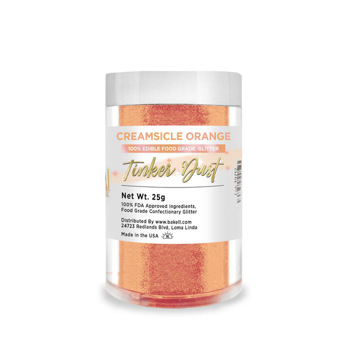 Creamsicle Orange Tinker Dust Edible Glitter, 5g Jar | Food Grade Glitter-Tinker Dust-Bakell