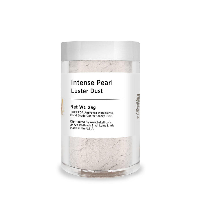 Intense Pearl White Edible Pearlized Luster Dust | Bulk Sizes-Bulk_Luster Dust-Bakell