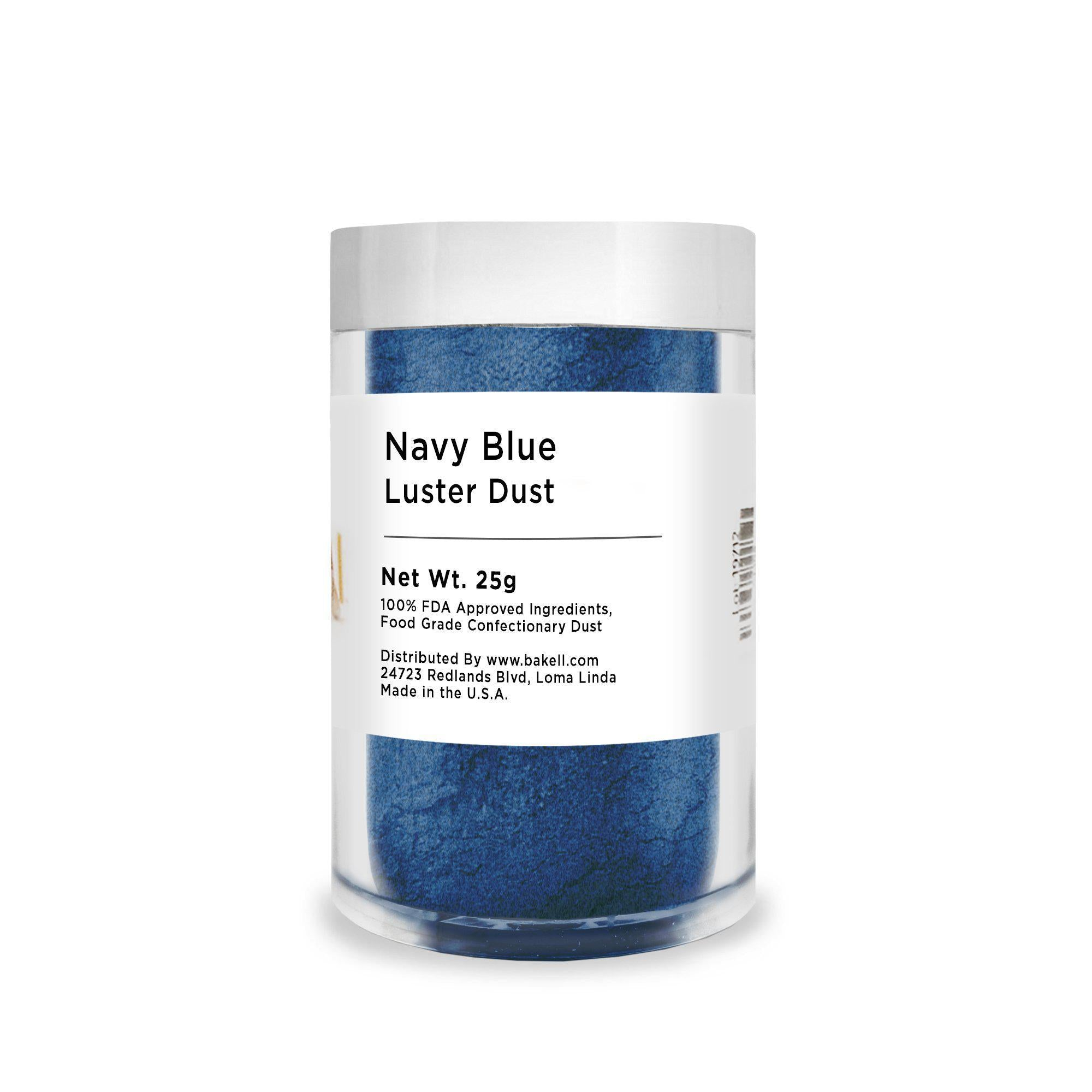 Navy Blue Edible Luster Dust | FDA Approved Glitter & Kosher Certified Glitter | Edible Paint | MICA Powder | Bakell.com