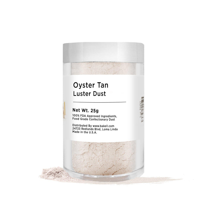 Oyster Tan Edible Pearlized Luster Dust | Bulk Sizes-Bulk_Luster Dust-Bakell