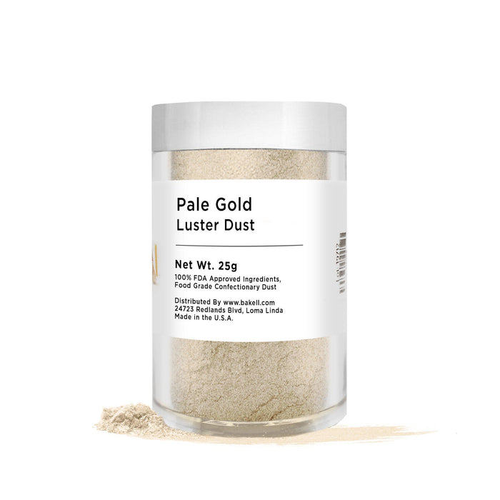 Pale Gold Edible Pearlized Luster Dust | Bulk Sizes-Bulk_Luster Dust-Bakell