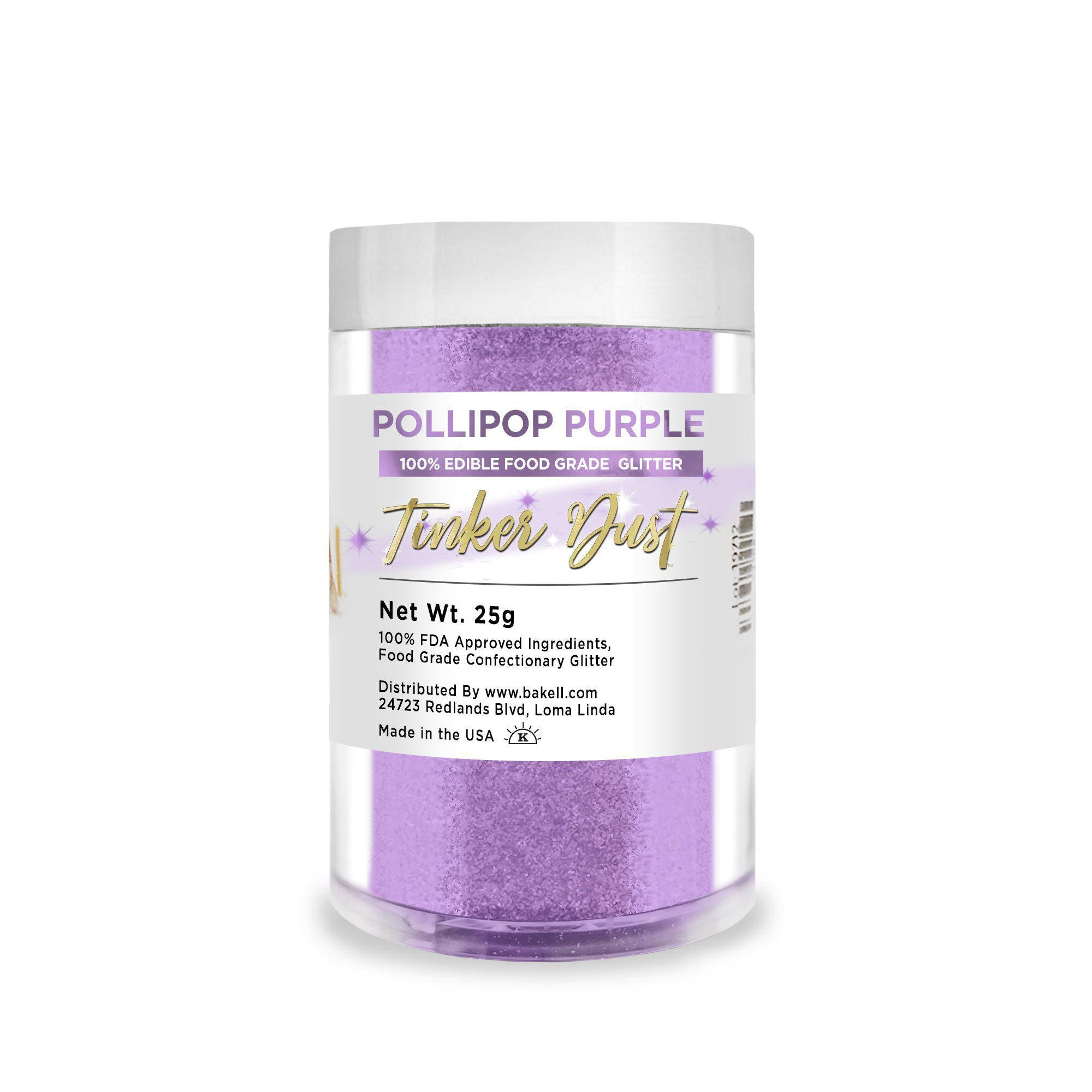 Pollipop Purple Tinker Dust Edible Glitter, 5g Jar | Food Grade Glitter-Tinker Dust-Bakell