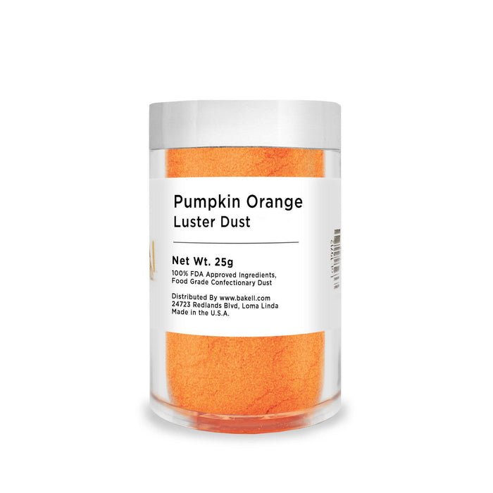 Pumpkin Orange Edible Luster Dust | Bulk Sizes-Bulk_Luster Dust-Bakell