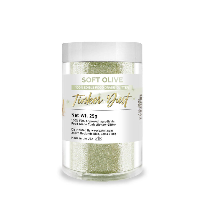 Soft Olive Green Edible Tinker Dust | Bulk Sizes-Bulk_Tinker Dust-Bakell