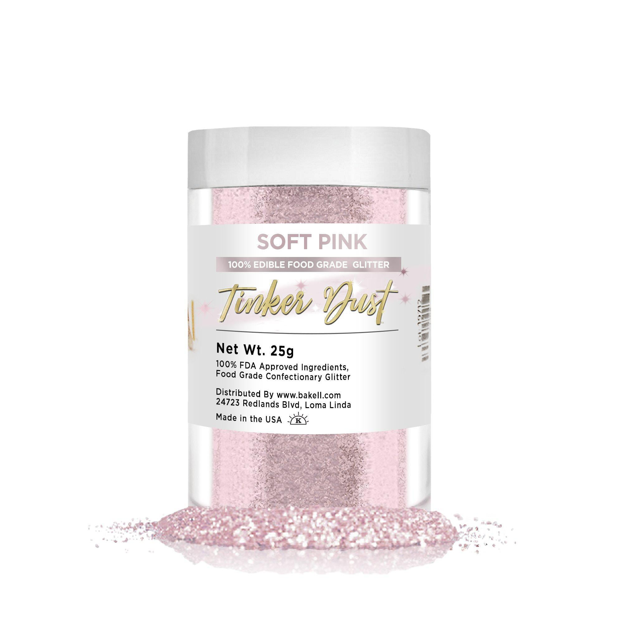 Soft Pink Edible Tinker Dust | Bulk Sizes-Bulk_Tinker Dust-Bakell