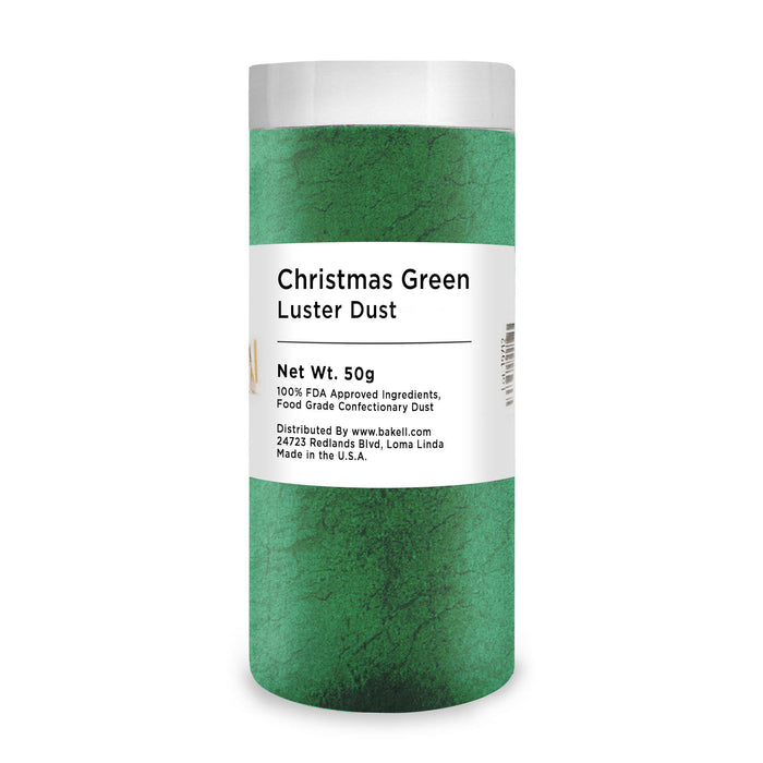 Christmas Green Edible Luster Dust-Luster Dusts-Bakell