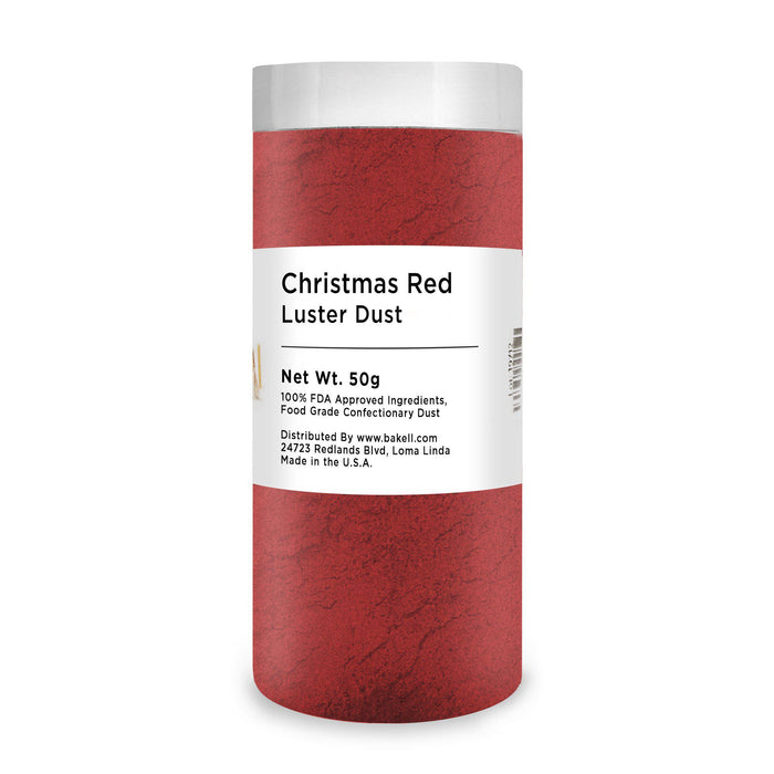 Christmas Red Edible Luster Dust-Luster Dusts-Bakell