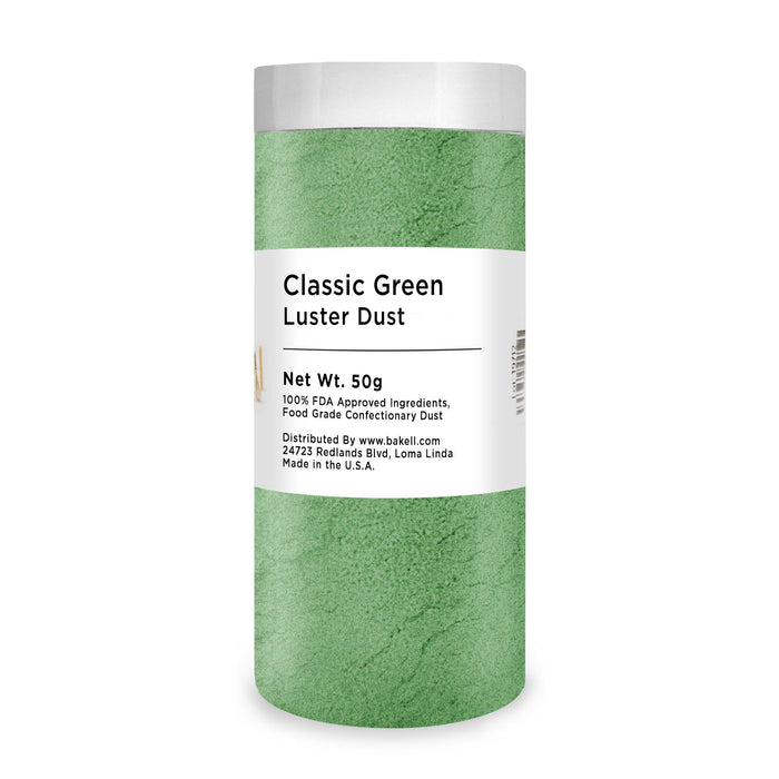 Classic Green Edible Luster Dust & Edible Paint | FDA Approved Dust | Edible MICA Powder | Edible Powder & 100% Edible Dust | Bakell.com