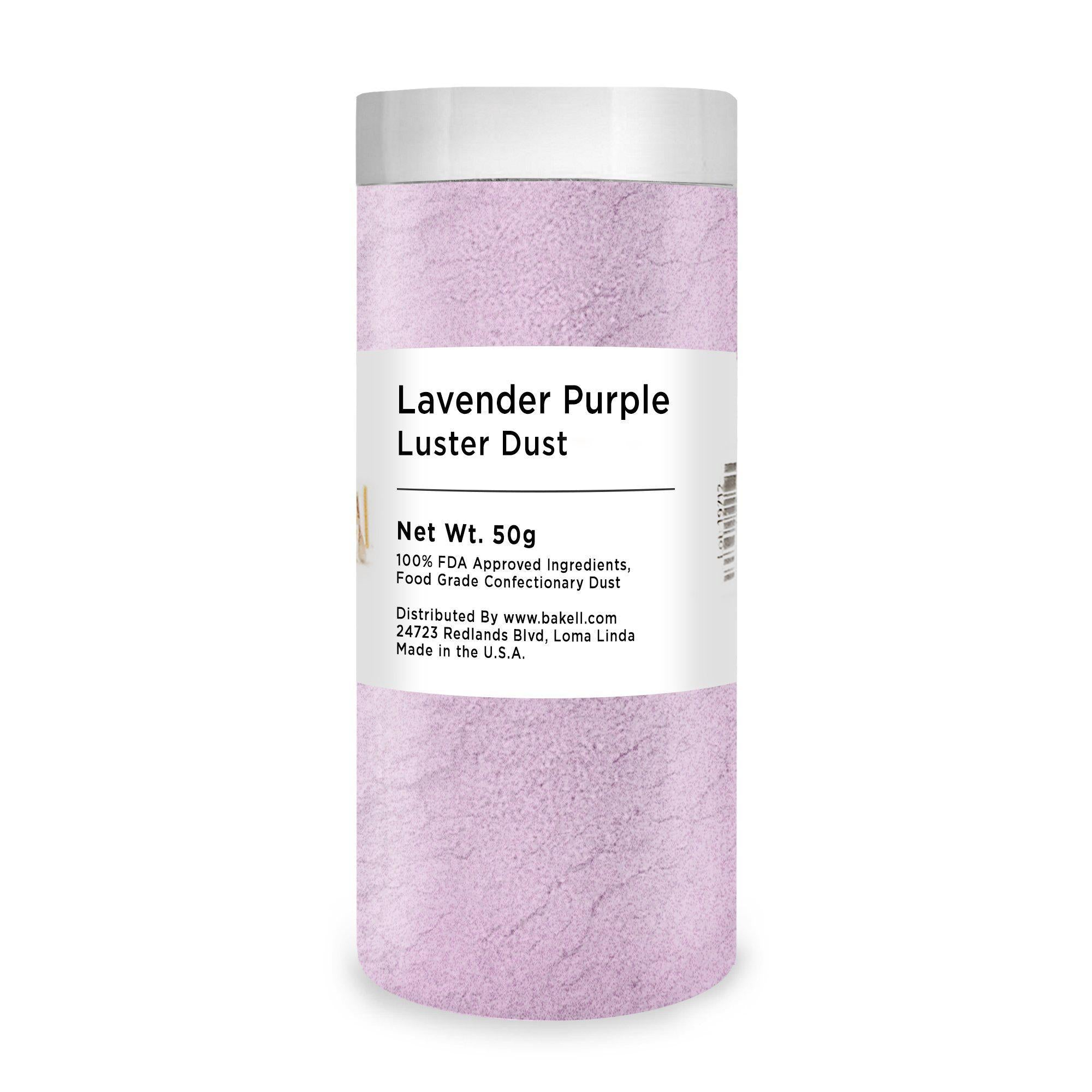 Lavender Purple Edible Luster Dust | FDA Approved Glitter & Kosher Certified Glitter | Edible Paint | MICA Powder | Bakell.com