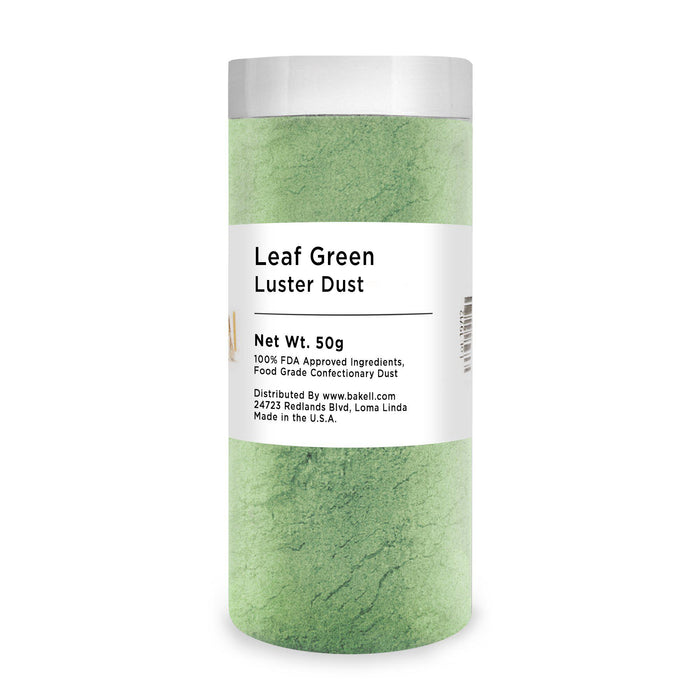 Leaf Green Edible Luster Dust | FDA Approved Glitter & Kosher Certified Glitter | Edible Paint | MICA Powder | Bakell.com