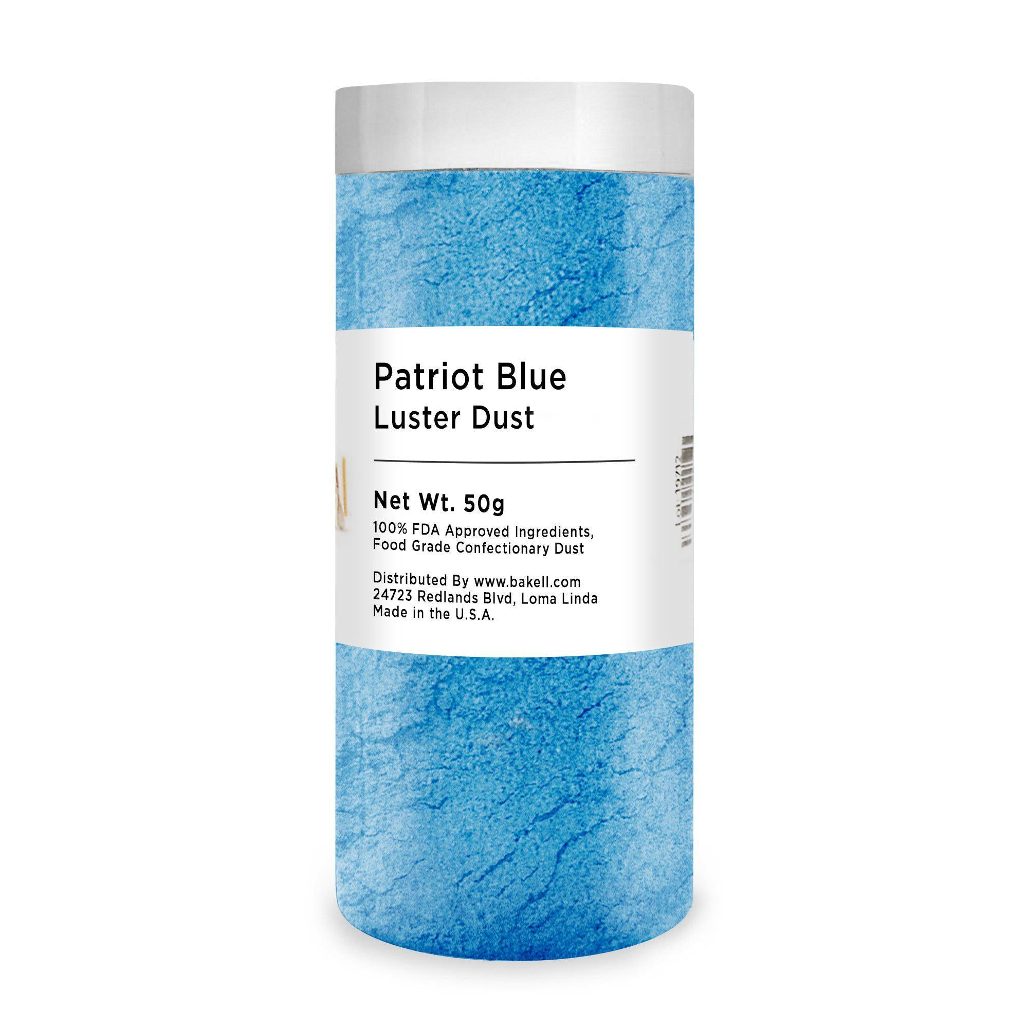 Patriot Blue Edible Luster Dust & Edible Paint | FDA Approved | Kosher Certified | Bakell® #1 site for FDA Compliant edible glitter & edible dust | Bakell.com