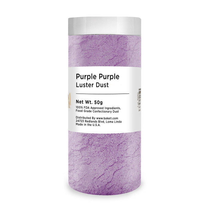 Purple Purple Edible Pearlized Luster Dust-Luster Dusts-Bakell