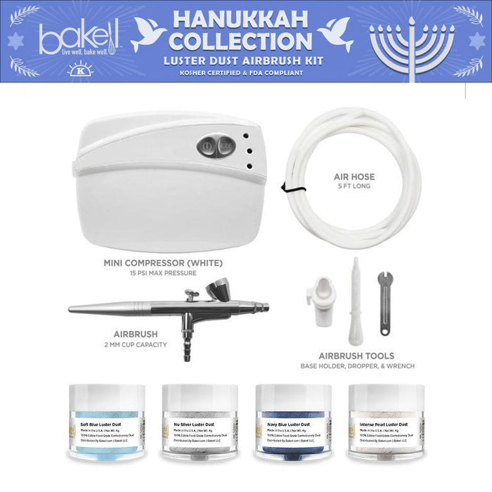 Hanukkah Airbrush Combo Kit White-Airbrush Gun_Kit-Bakell