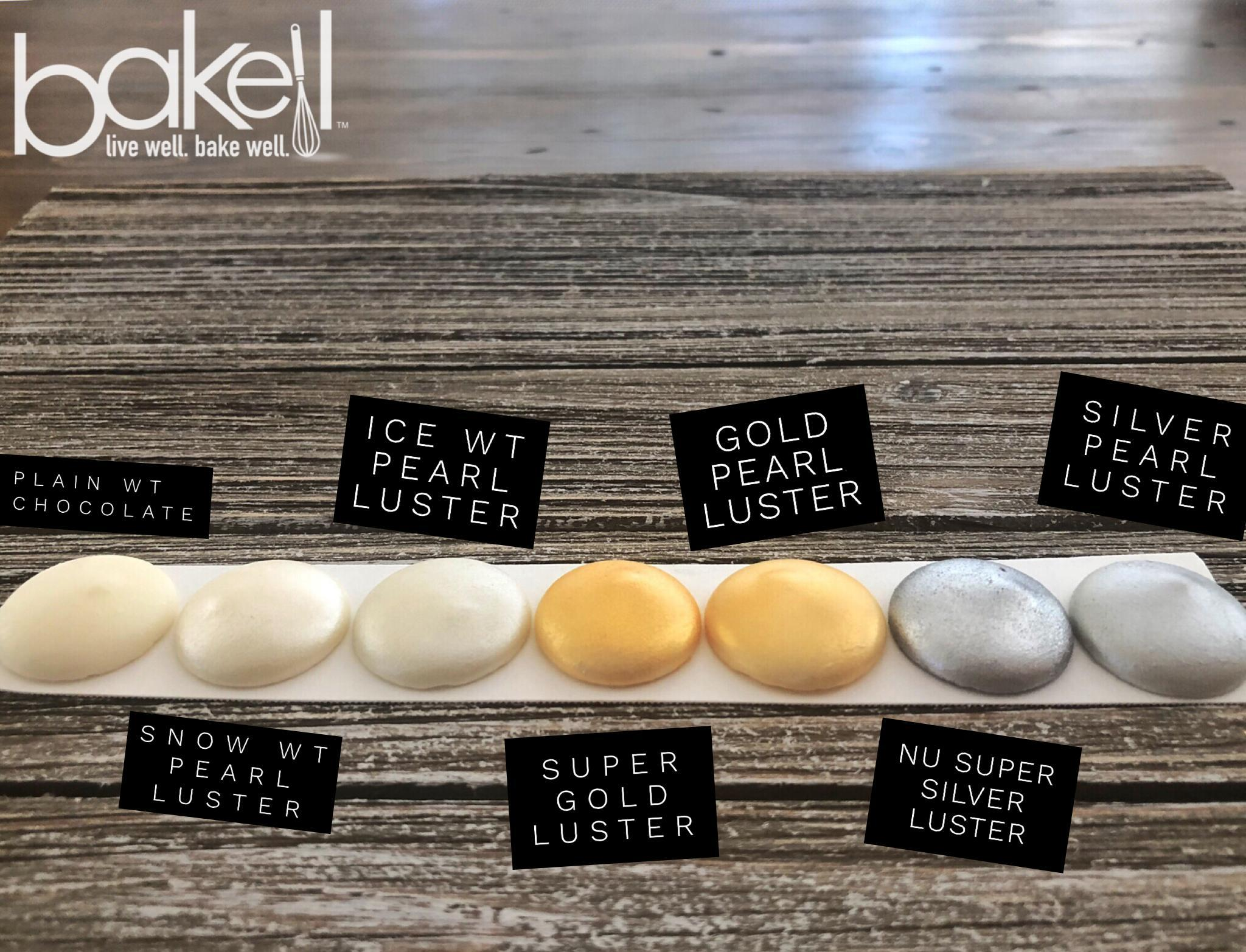 Super Gold Edible Luster Dust & Edible Paint Color Chart | FDA Approved Metallic Edible Glitter | Bakell® #1 site for FDA Compliant edible glitter & edible dust | Bakell.comr & edible dust | Bakell.com