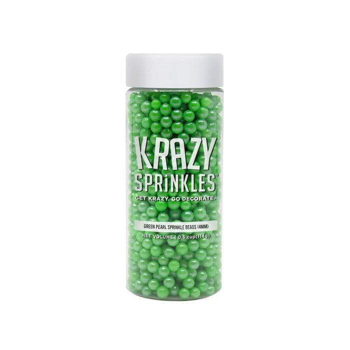 Green Pearl 4mm Beads-4mm Beads_Sprinkles-Bakell