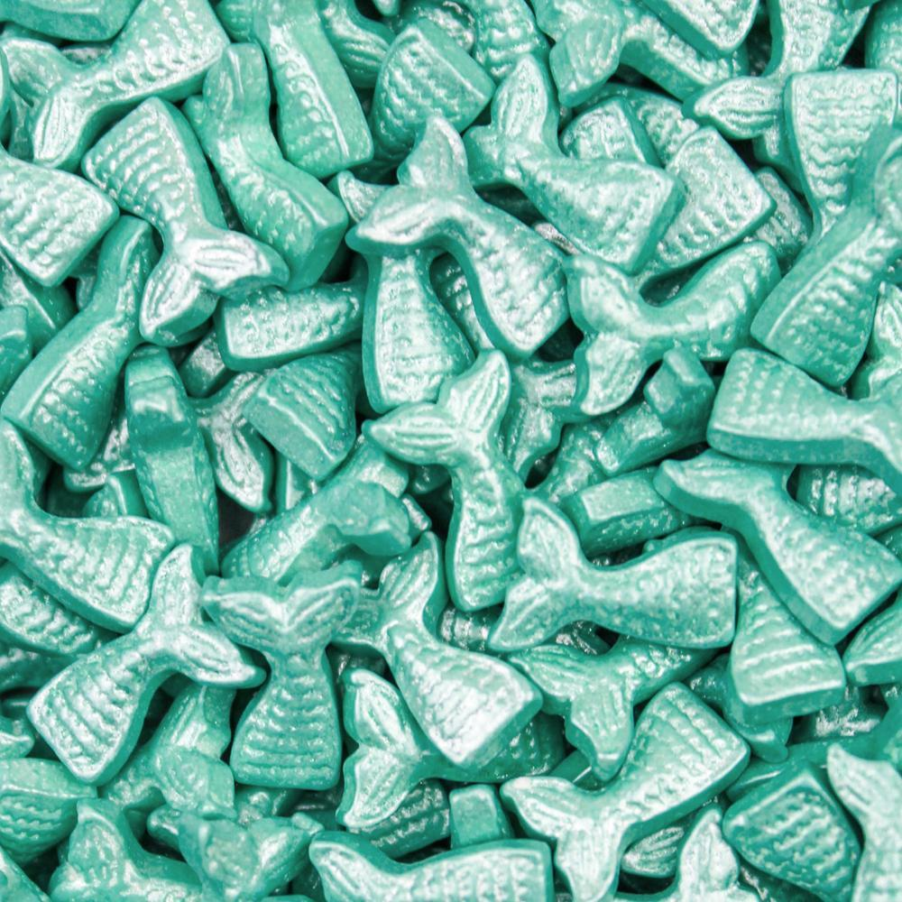 Teal Mermaid Tail Shaped Sprinkles-Shapes_Sprinkles-Bakell