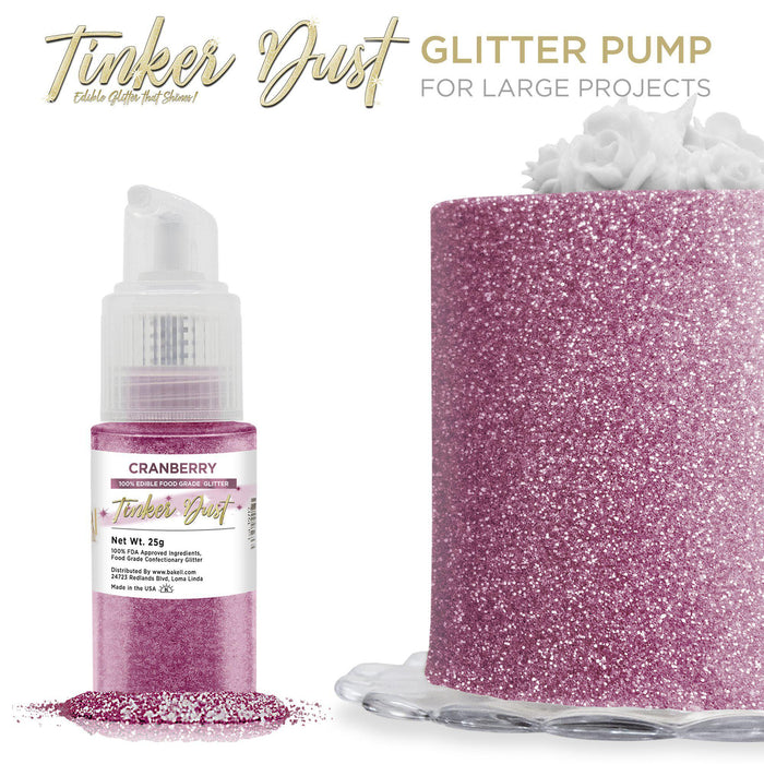 Cranberry Tinker Dust Edible Glitter Spray Pump-Tinker Dust_Pump-Bakell
