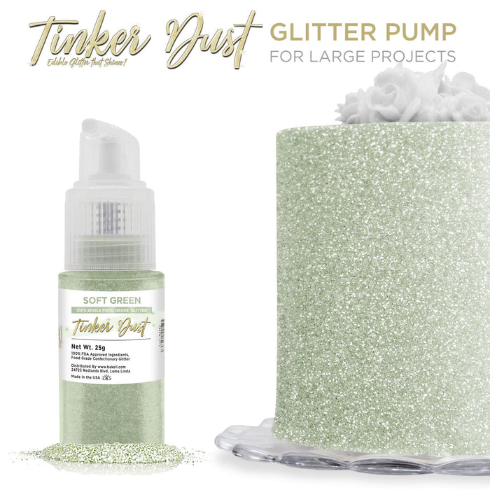Soft Green Tinker Dust Edible Glitter Spray Pump-Tinker Dust_Pump-Bakell