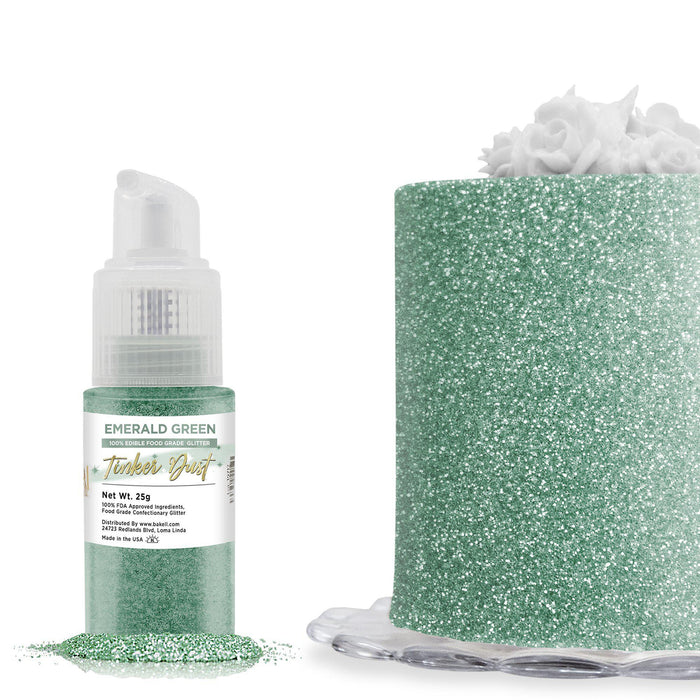 Emerald Green Tinker Dust Edible Glitter Spray Pump-Tinker Dust_Pump-Bakell