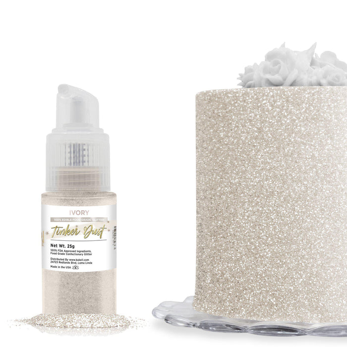 Ivory Tinker Dust Edible Glitter Spray Pump-Tinker Dust_Pump-Bakell