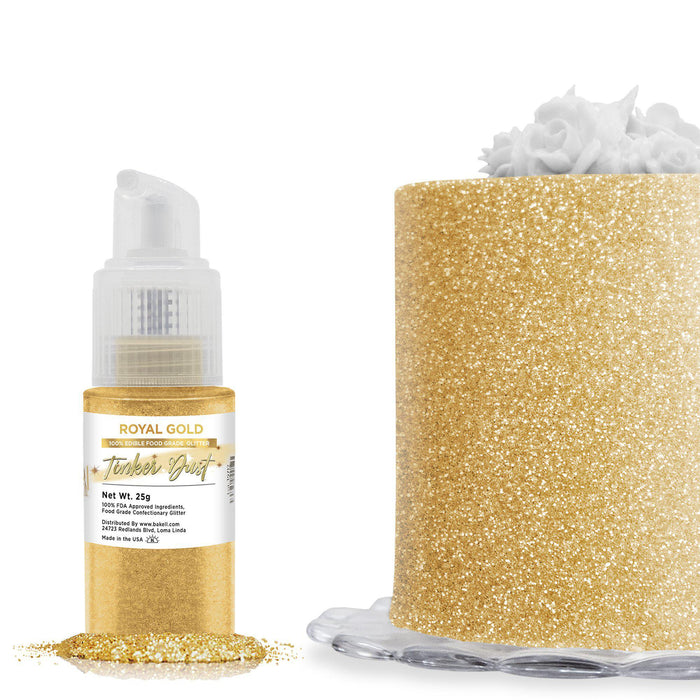 Royal Gold Tinker Dust Edible Glitter Spray Pump-Tinker Dust_Pump-Bakell