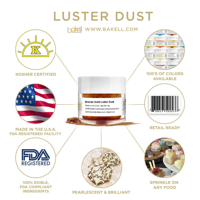 Bronze Gold Luster Dust by the Case-Wholesale_Case_Luster Dust-Bakell