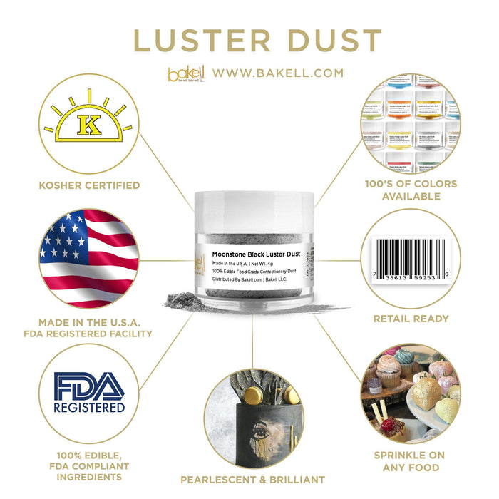 Moonstone Black Luster Dust by the Case-Wholesale_Case_Luster Dust-Bakell