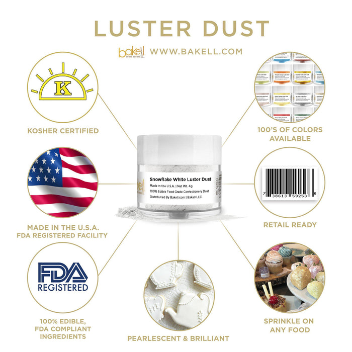 Snowflake White Luster Dust by the Case-Wholesale_Case_Luster Dust-Bakell