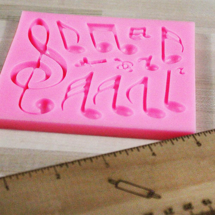 Multi Music Note Silicone Mold with 13 Shapes-Silicone Molds-Bakell