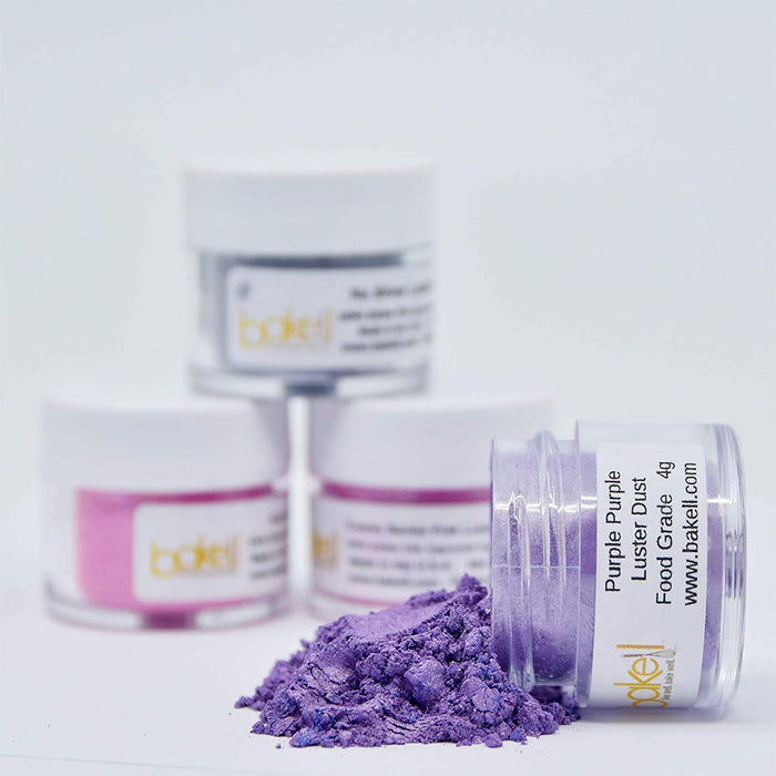 Purple Purple Edible Luster Dust & Edible Paint | FDA Approved | Bakell® #1 site for FDA Compliant edible glitter & edible dust | Bakell.com