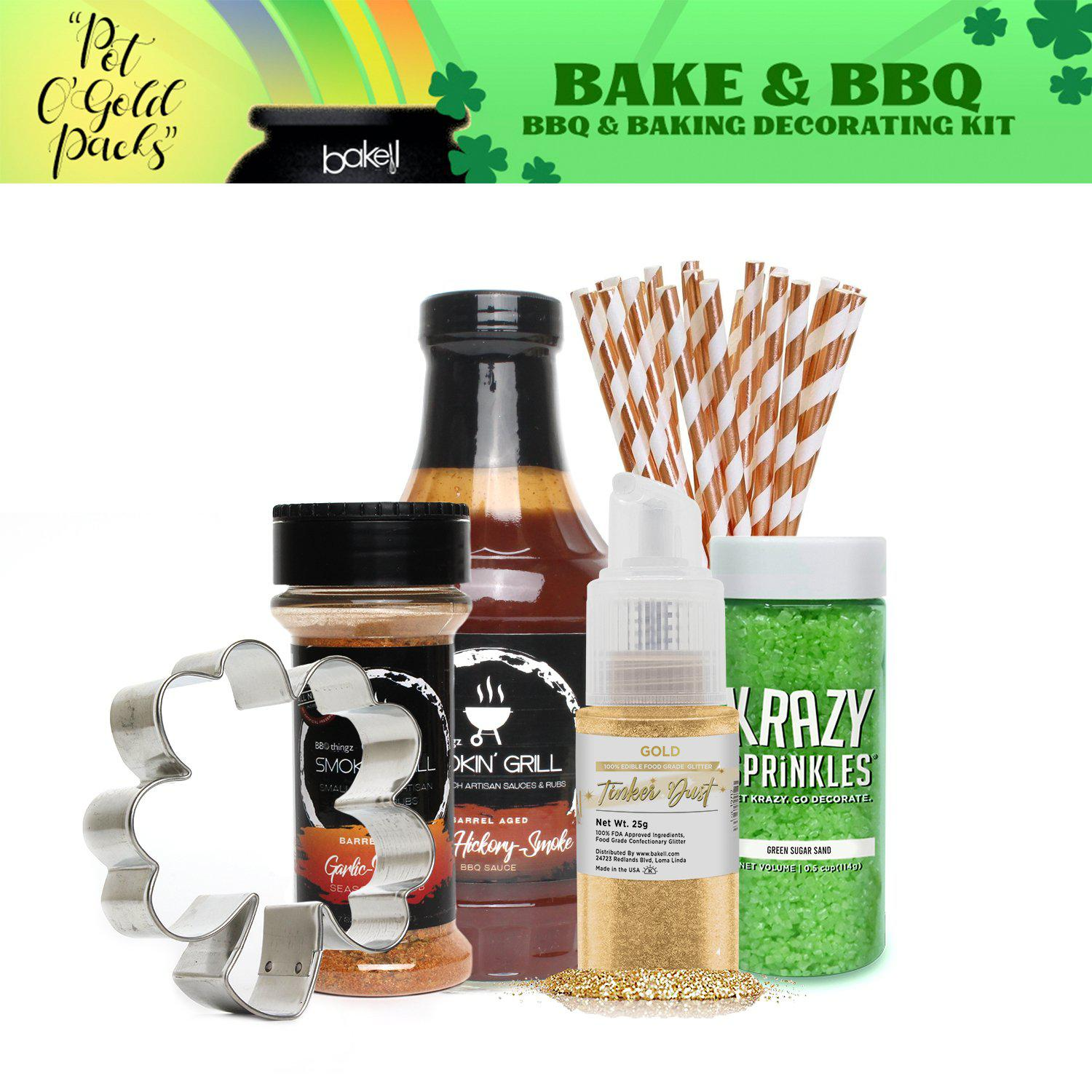 St. Patty's Day Pot O' Gold Collection BBQ & Baking Decorating Gift Set B (6 PC SET)-St Pattys Day_Gift Set-Bakell