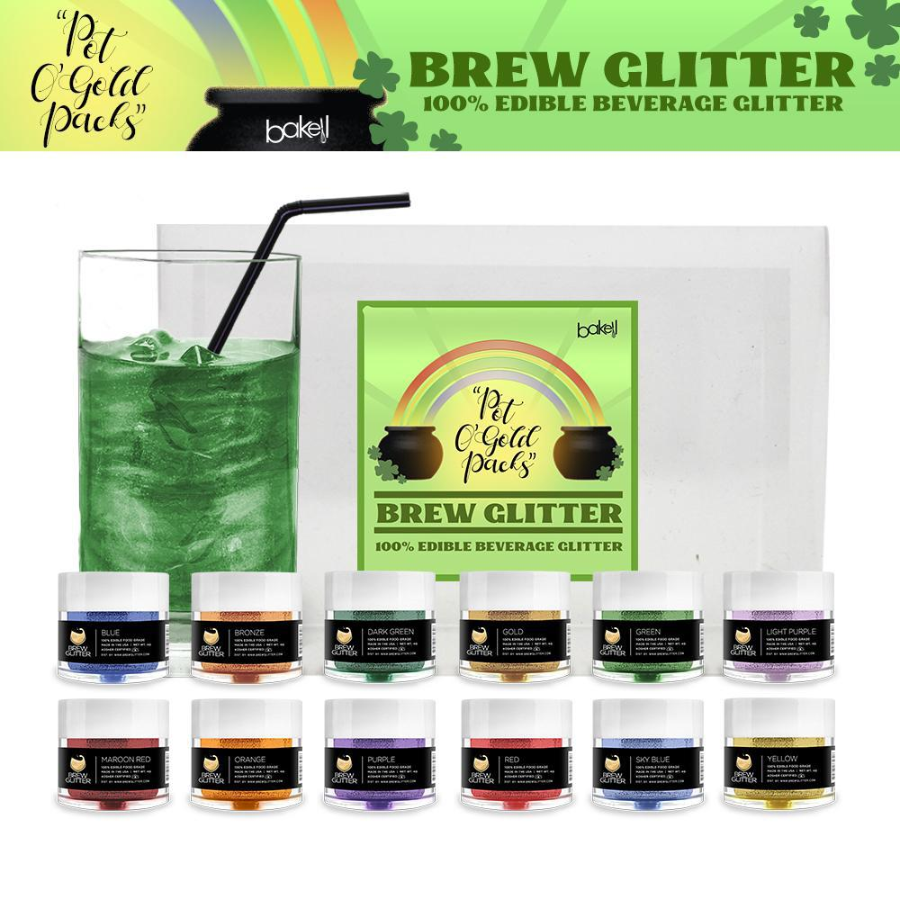 St. Patty's Day Pot O' Gold Collection Brew Glitter Combo Pack B (12 PC SET)-Brew Glitter_Pack-Bakell