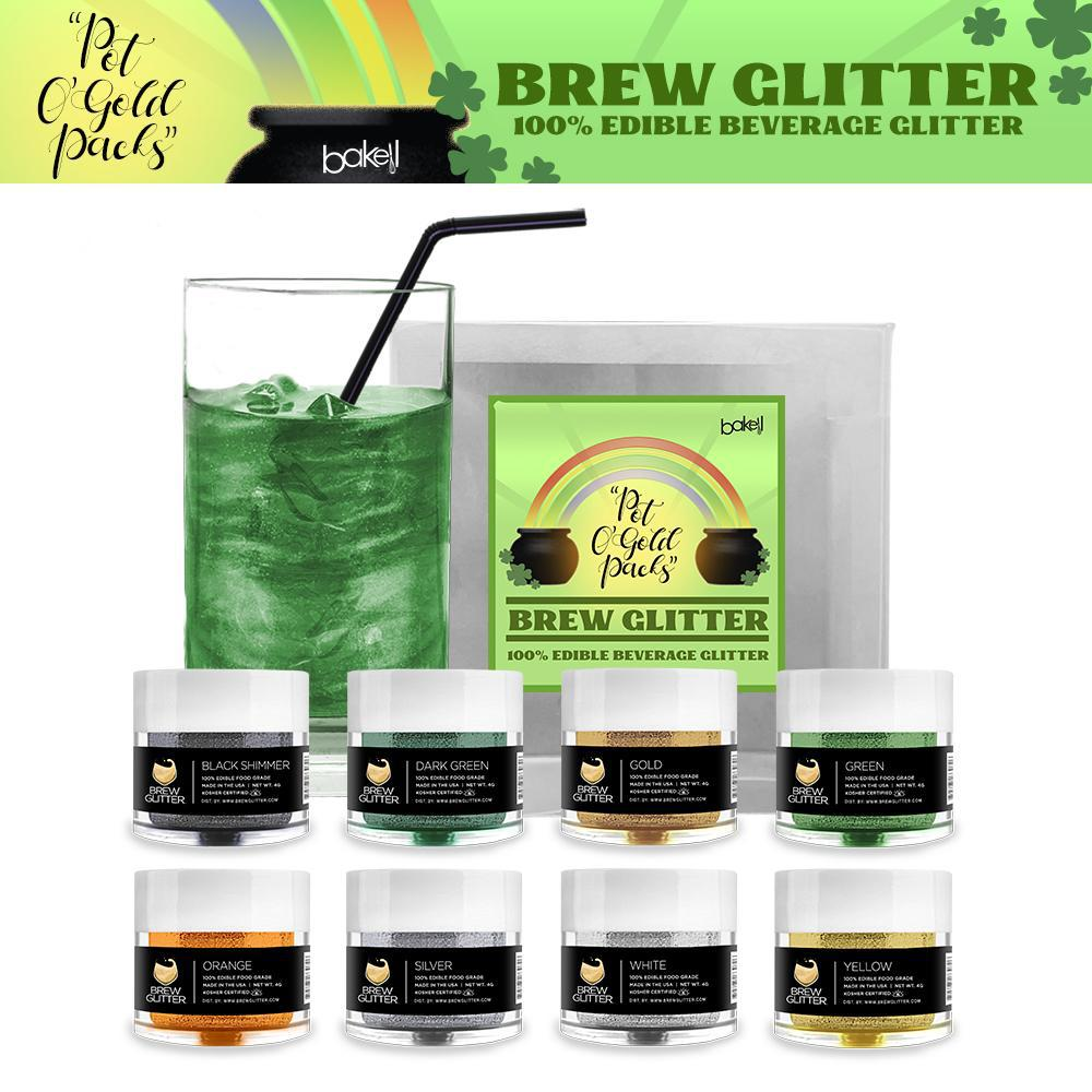 St. Patty's Day Pot O' Gold Collection Brew Glitter Combo Pack A (8 PC SET)-Brew Glitter_Pack-Bakell
