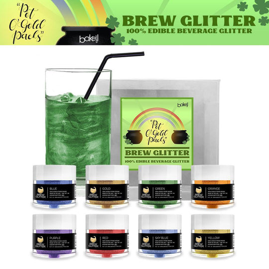 St. Patty's Day Pot O' Gold Collection Brew Glitter Combo Pack B (8 PC SET)-Brew Glitter_Pack-Bakell