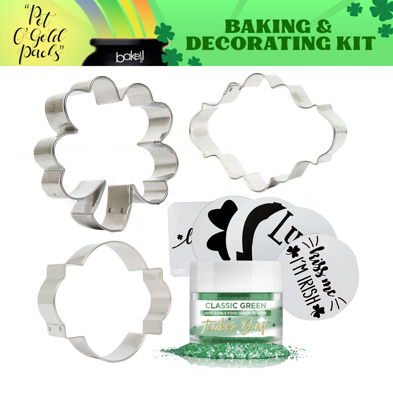 St. Patty's Day Pot O' Gold Collection Cookie Baking & Decorating Gift Set-St Pattys Day_Gift Set-Bakell