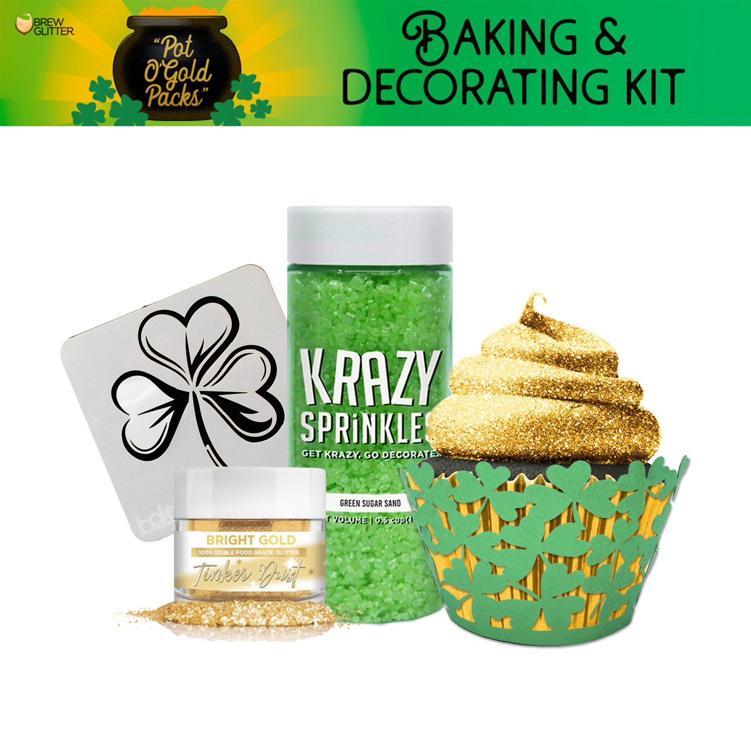 St. Patty's Day Pot O' Gold Collection Cupcake Baking & Decorating Gift Set-St Pattys Day_Gift Set-Bakell